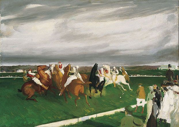 George Bellows (1882-1925)-Polo at Lakewood 1910