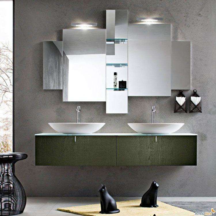 Mobile bagno sospeso design moderno n.42 | Bagni di design ...
