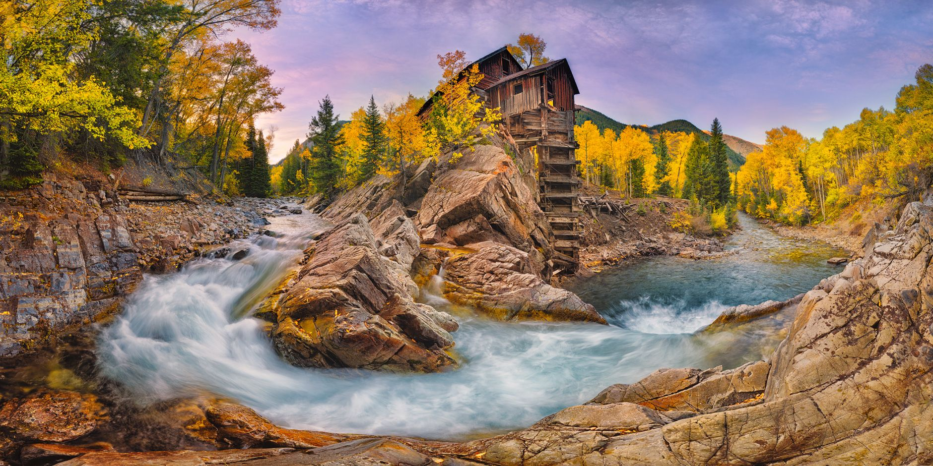 Crystal Mill At Dawn Crystal Ghost Town Colorado Igor Menaker Fine Art Photography