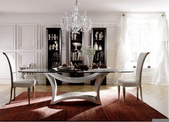 Tavolo in cristallo e pietra | Dream Home | Pinterest | Tavolo ...