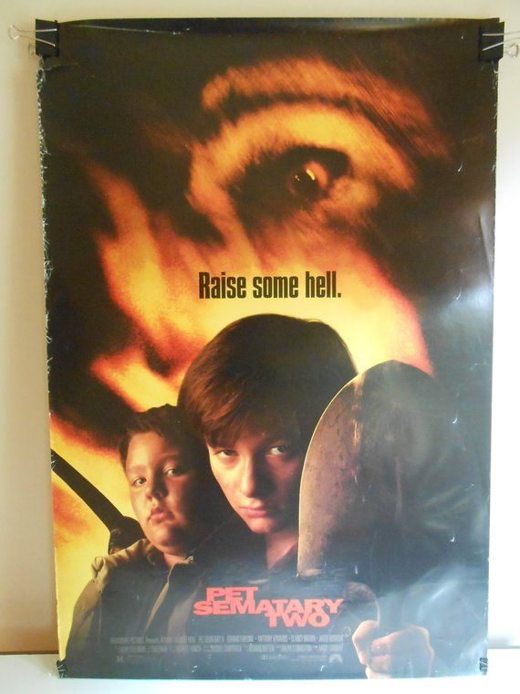 Pet Sematary Two(1992)Original Double Sided Movie Poster Edward Furlong 27x40