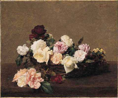 A Basket of Roses - Henri Fantin-Latour