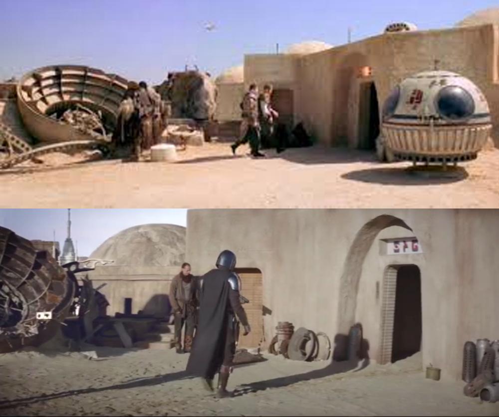 "Mos Eisley Then and ""Now"" - The Mandalorian in 2020 | Mos eisley, Star  wars, Mandalorian"