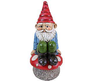 Exhart 13 Gnome Sitting On Mushroom Yard Gnomes Gnomes Gnome