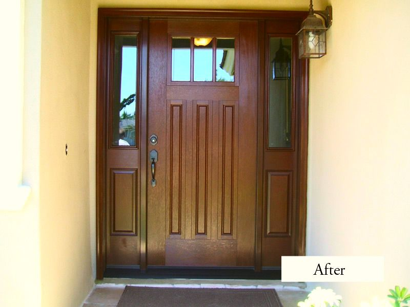 Craftsman Style Entry Door System Therma Tru Fiberglass