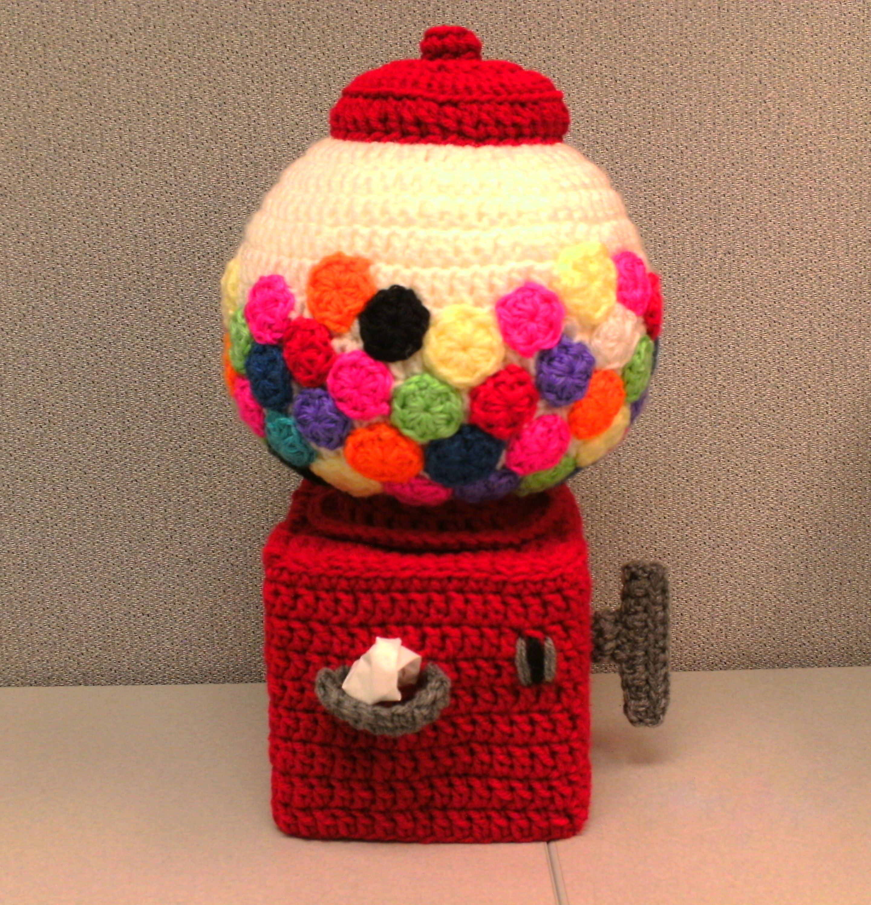 Gumball Machine Tissue Cover Pattern In Toyland Tissue