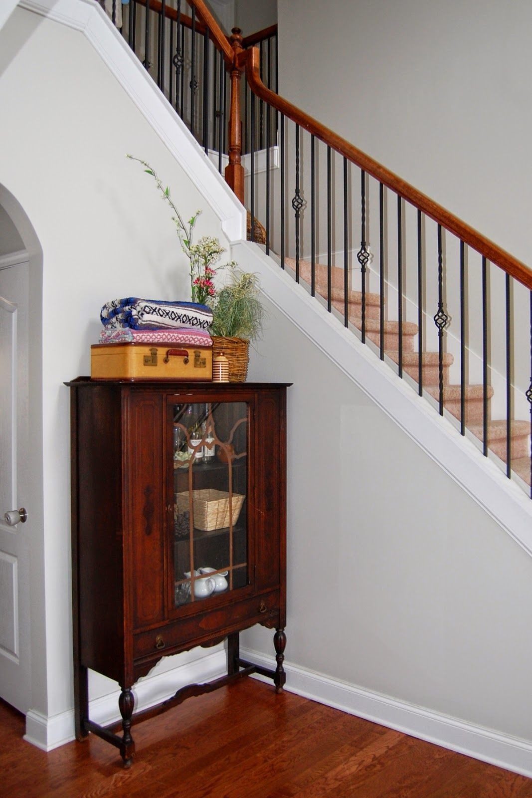 Benjamin Moore Moonshine Grey Painted Foyer Love With