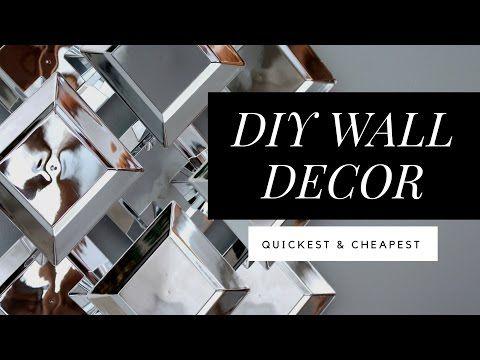 Diy Dollar Tree Faux Mirror Wall Art Easy Quick Youtube