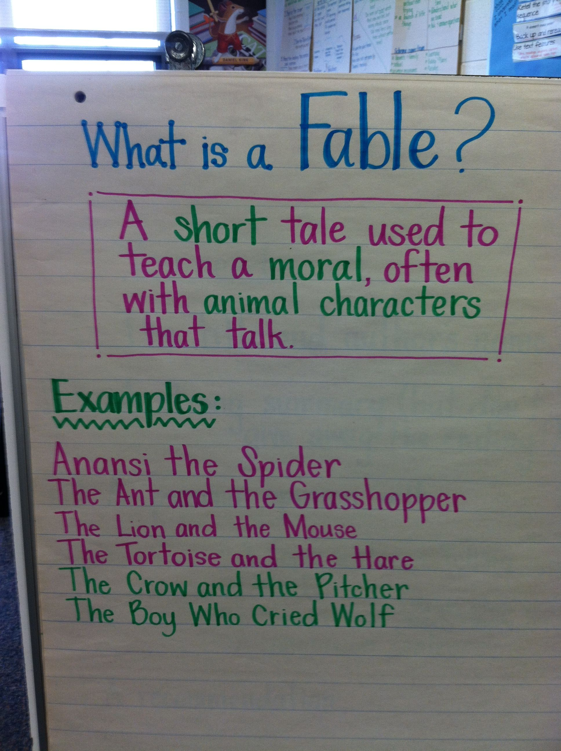 What Is A Fable Anchor Chart