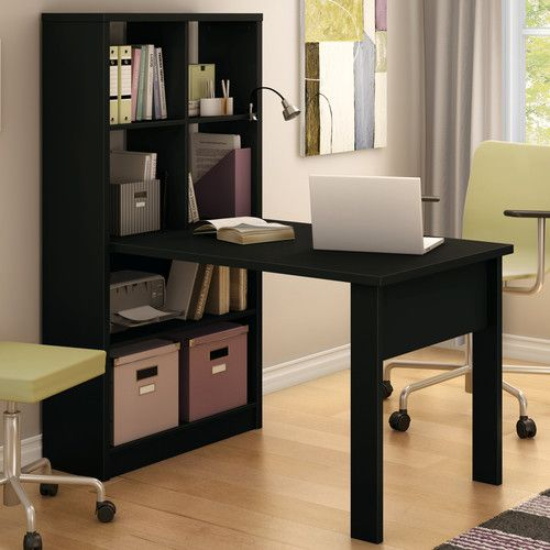 South Shore Annexe 53 25 W X 31 5 D Work Table Bookcase Desk Cheap Office Furniture Home Office Furniture