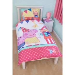 Buy Peppa Pig Funfair Duvet Cover Set - Single at Argos.co.uk - Your Online Shop for Children's bedding sets, Peppa Pig home.