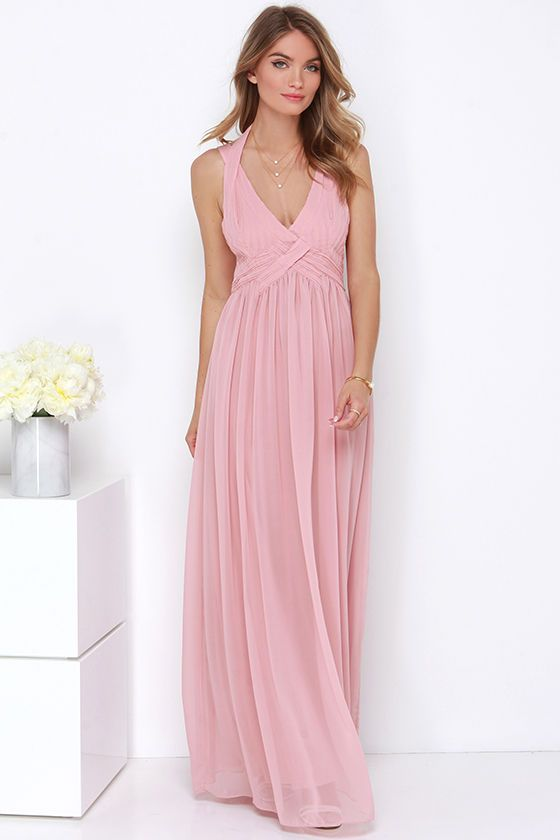 Strike a Minerva Dusty Pink Maxi Dress | My style ...