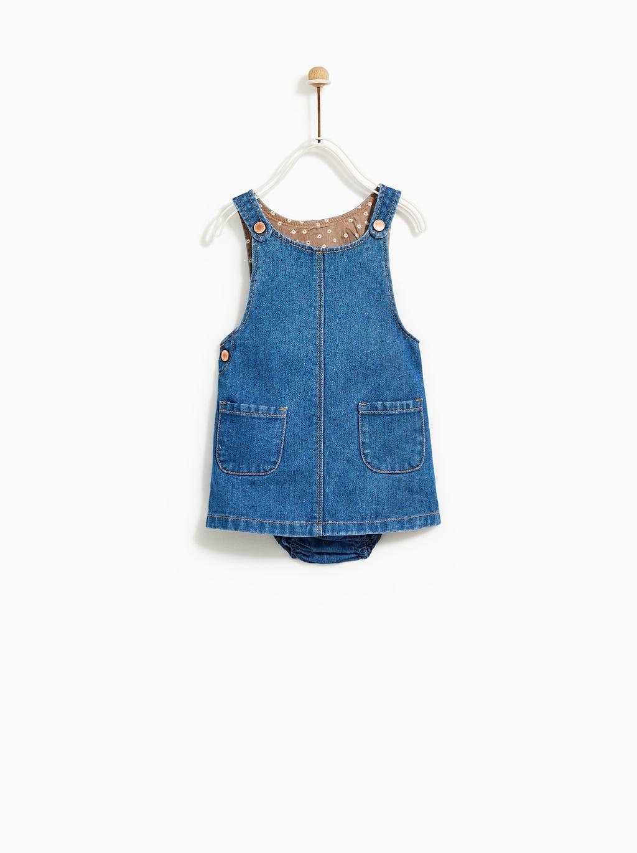95a8338a Baby Girl Denim Pinafore Dress - raveitsafe