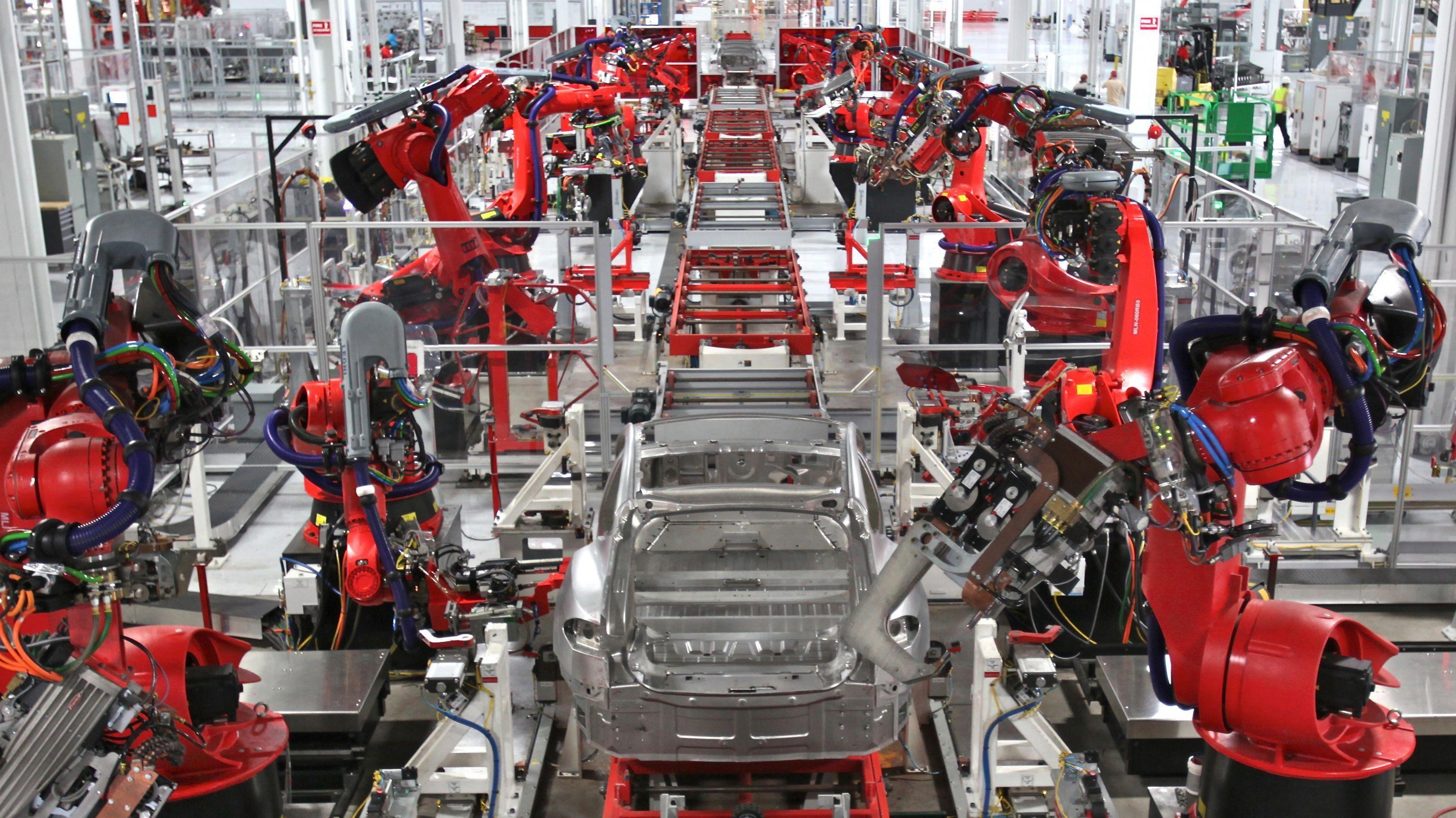 Tesla Factory Robot Party Tesla Factory