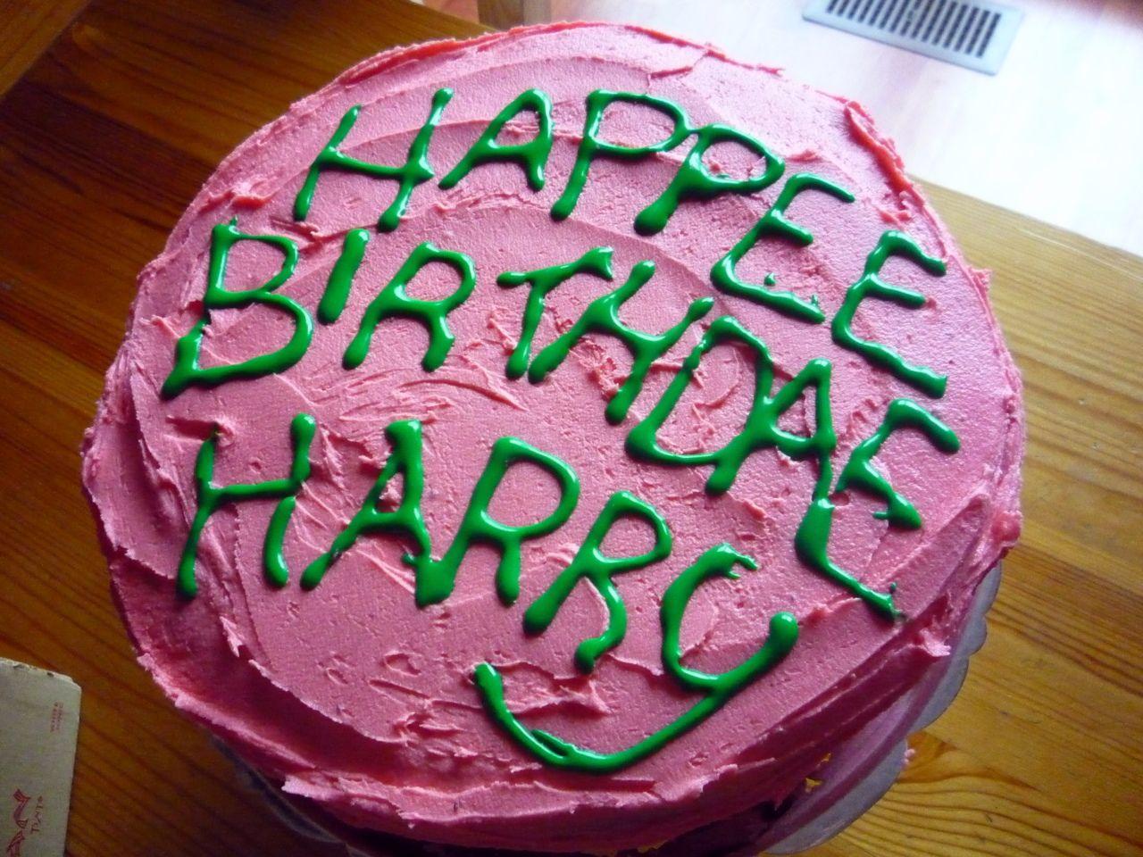 Harry Potter Inspired Hagrids Birthday Cake Harry Potter Inspired