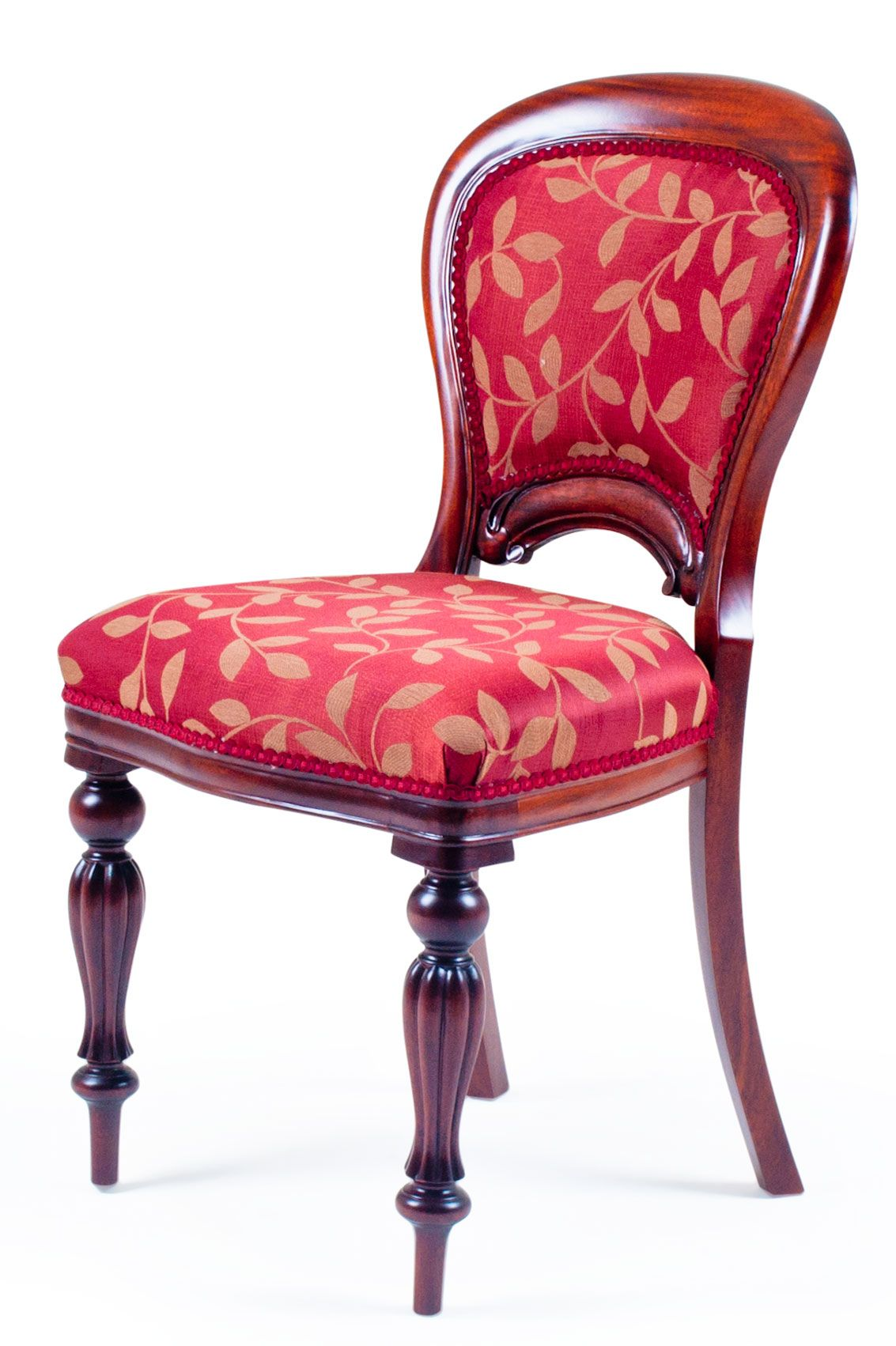 Victorian upholstered back dining chair a victorian for Furniture upholstery