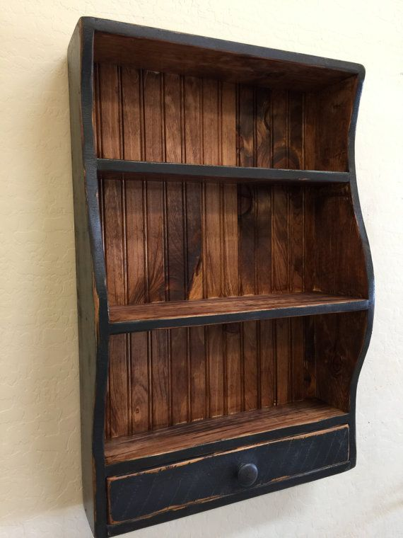 Hanging Book Shelf primitive wall shelf, whale shelf, primitive whale shelf, hanging