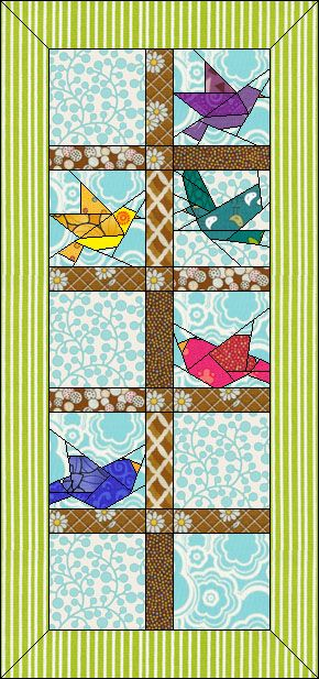 Cheerful Chicks Downloads Doyoueq Com Paper Quilt Paper Pieced Quilt Patterns Paper Piecing Quilts