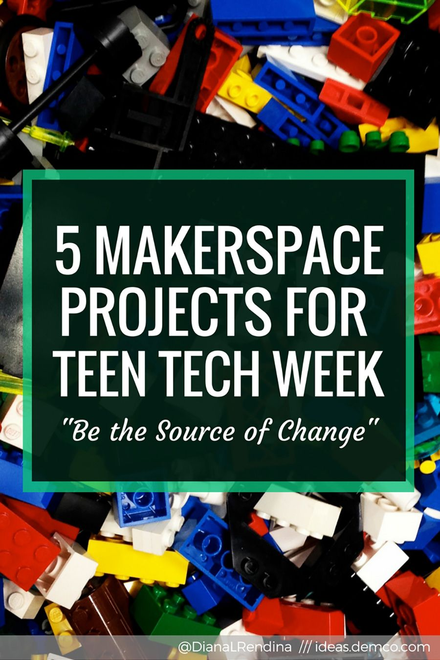 Teen Tech Week is March 5-11 and master maker Diana Rendina has got you covered with 5 makerspace projects that will inspire teens to become change agents.