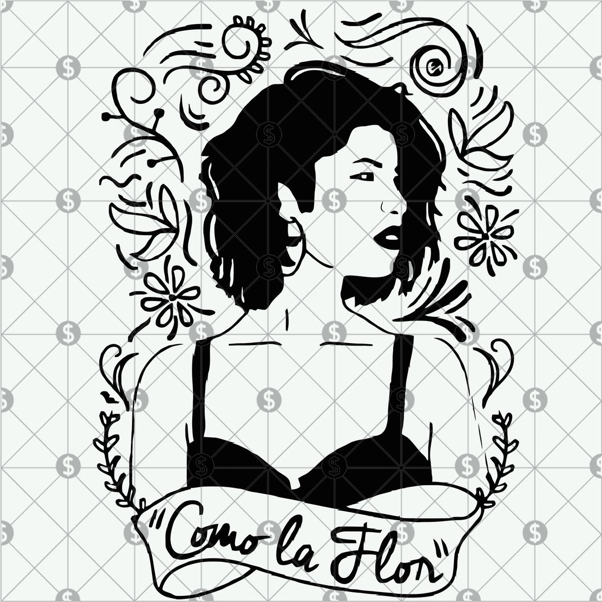 Selena Quintanilla Art Svg Selena Quintanilla Selena Svg Selena T Shirt Como La Flor Svg Selena Gift Selena Selena Quintanilla Selena Dibujitos Sencillos