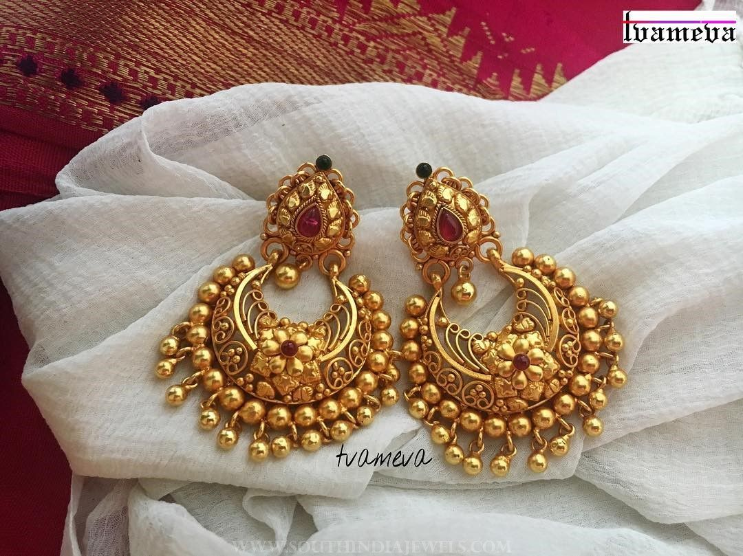 8bff2c93fabf1 Gold Plated Antique Chandbali From Tvameva | Jewllery | Antique ...