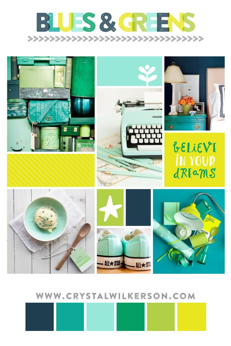 Mood Board Monday Edition Blues And Greens Inspired