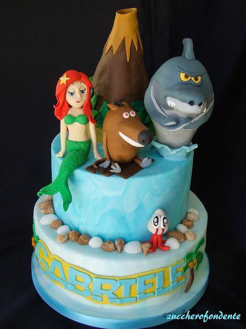 zuccherofondente Zig \u0026 Sharko Cake Torta Con Squalo, Tutorial Per Torte, Torte  Di