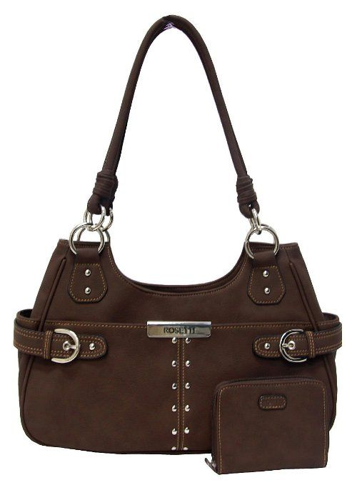 d795b7b1eb12 Amazon.com  Rosetti Ring In The Tides 4-Poster Handbag Cocoa brown  Clothing