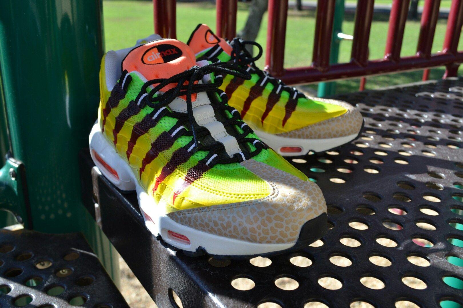 "Nike Air Max 95 Customs ""Velociraptor"" Custom By Bago Shoes"