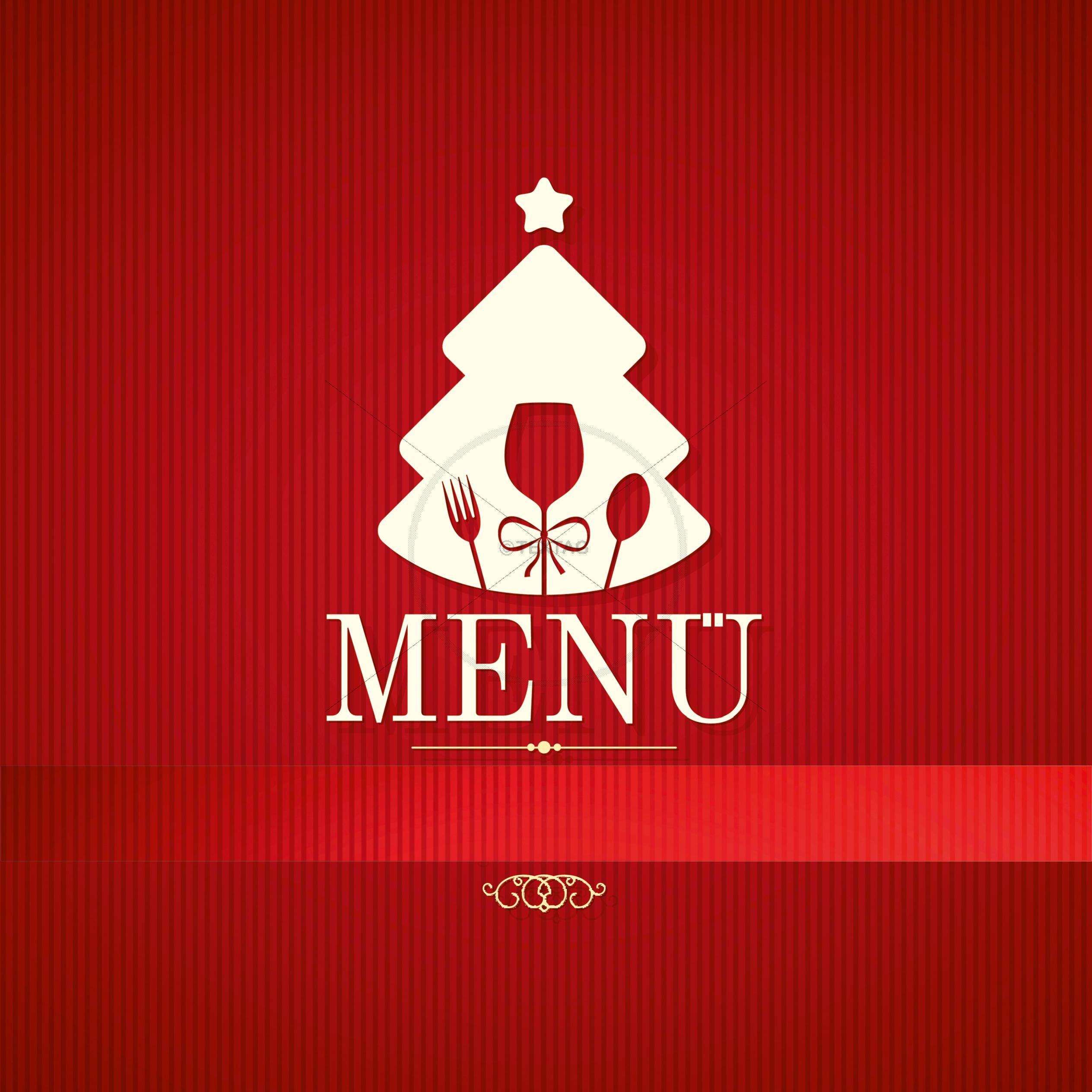 speisekarte für weihnachten word vorlage menükarte für