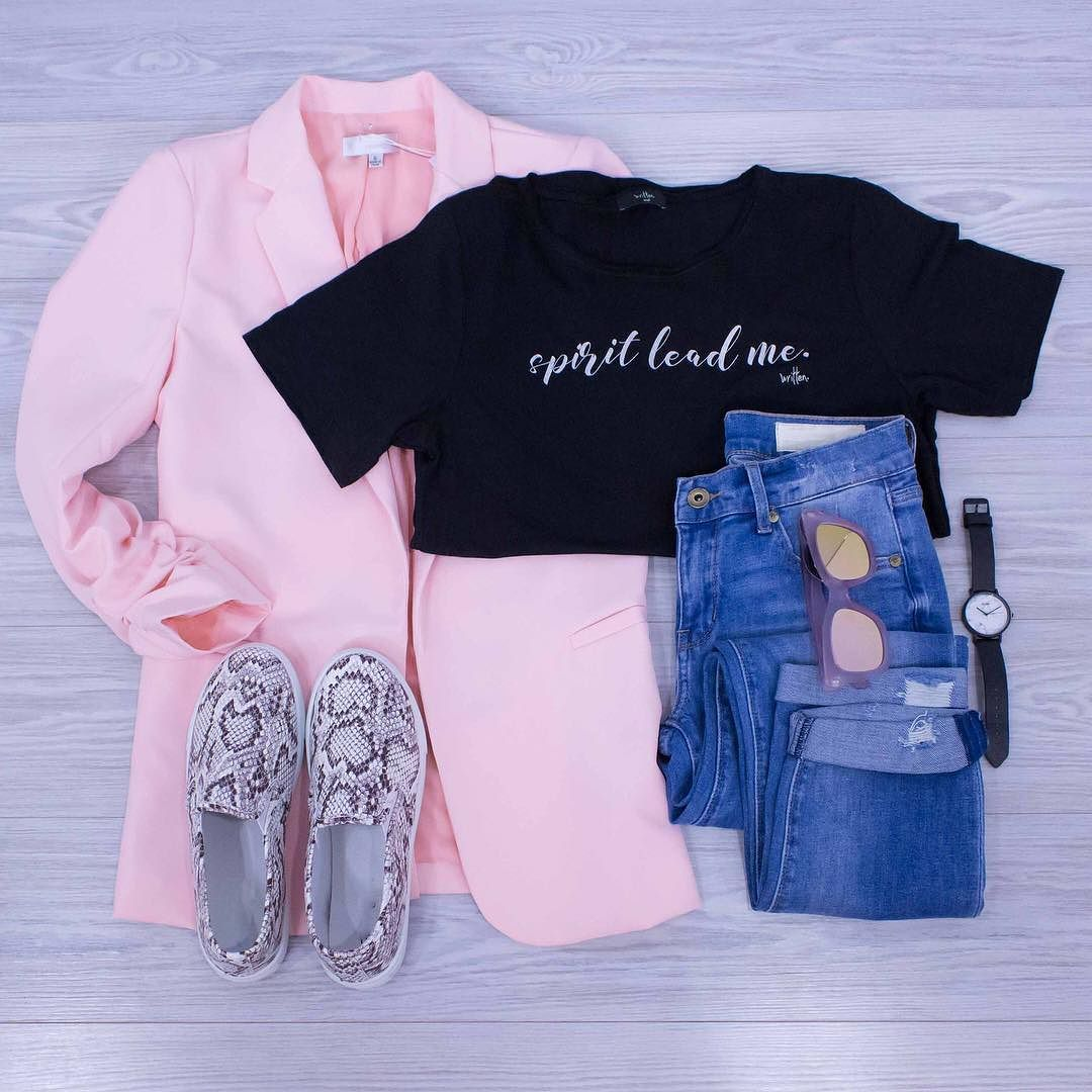 Pink dress with pink jacket  Dress up your tee at work today with our Girl Boss Ruched Sleeve