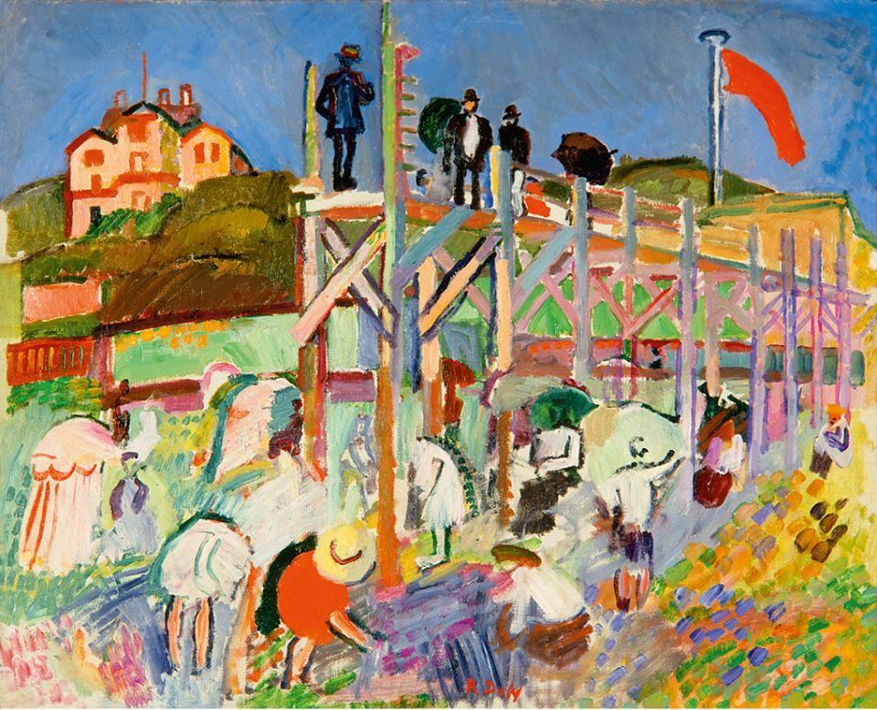 Raoul Dufy. Plataforma marítima del Casino Marie-Christine, Sainte-Adresse, c. 1906