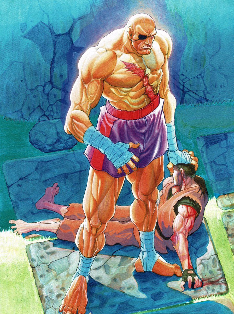 868c2a9bcaf Gamekyo   Blog   Artworks Promo pour Street Fighter II