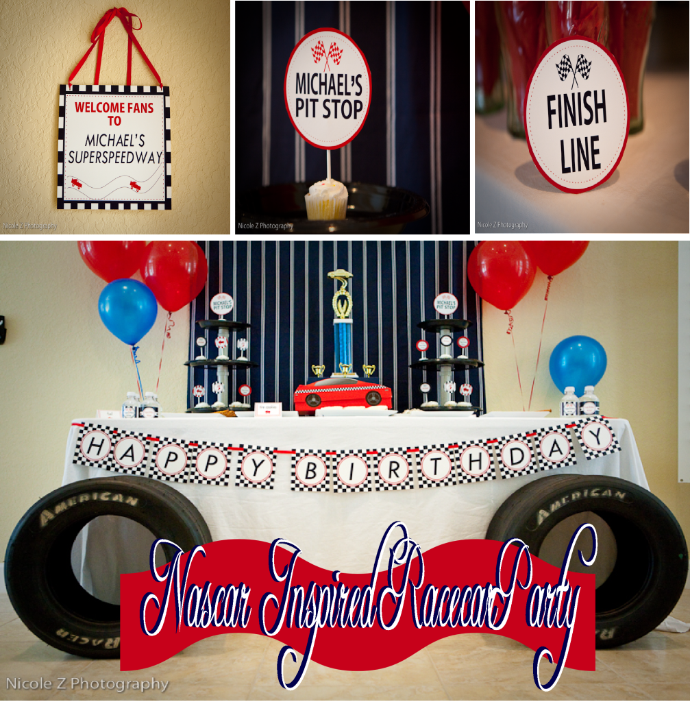 Nascar inspired birthday party party supplies pinterest nascar nascar inspired birthday party filmwisefo Choice Image