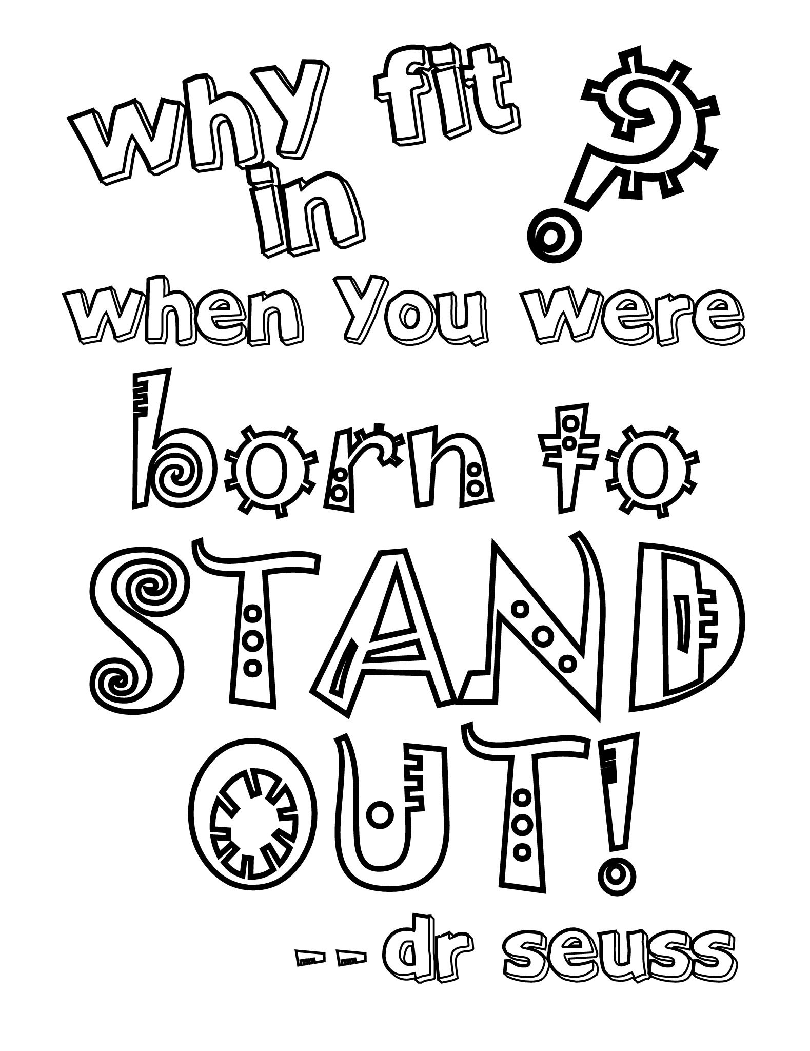 Coloring pages with quotes - Seuss Coloring Page 3 Jpg Google Drive