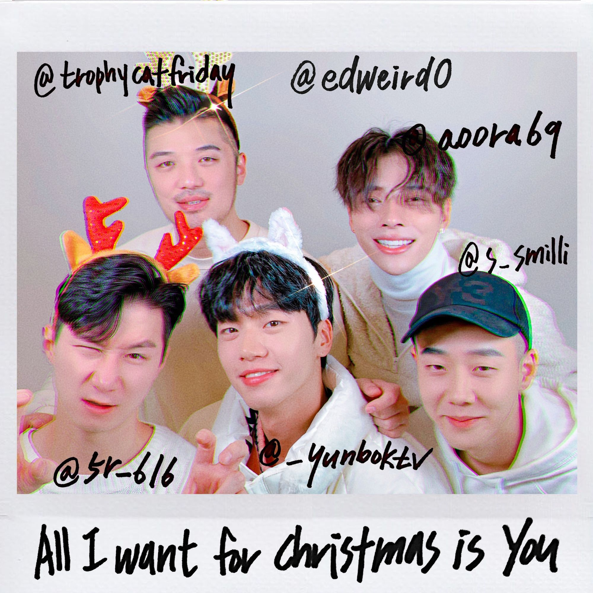 AOORA 'All I Want for Christmas Is You' Album Cover in