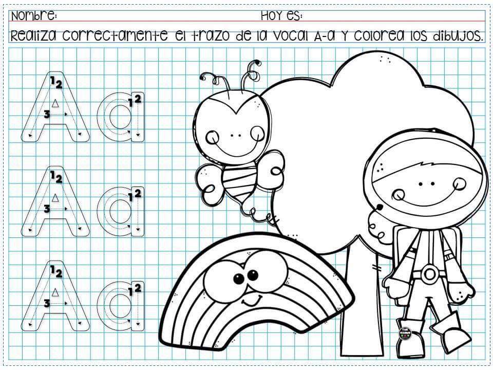 Dibujos Para Colorear De Preescolar: Pin De Bellamoon En Preescolar