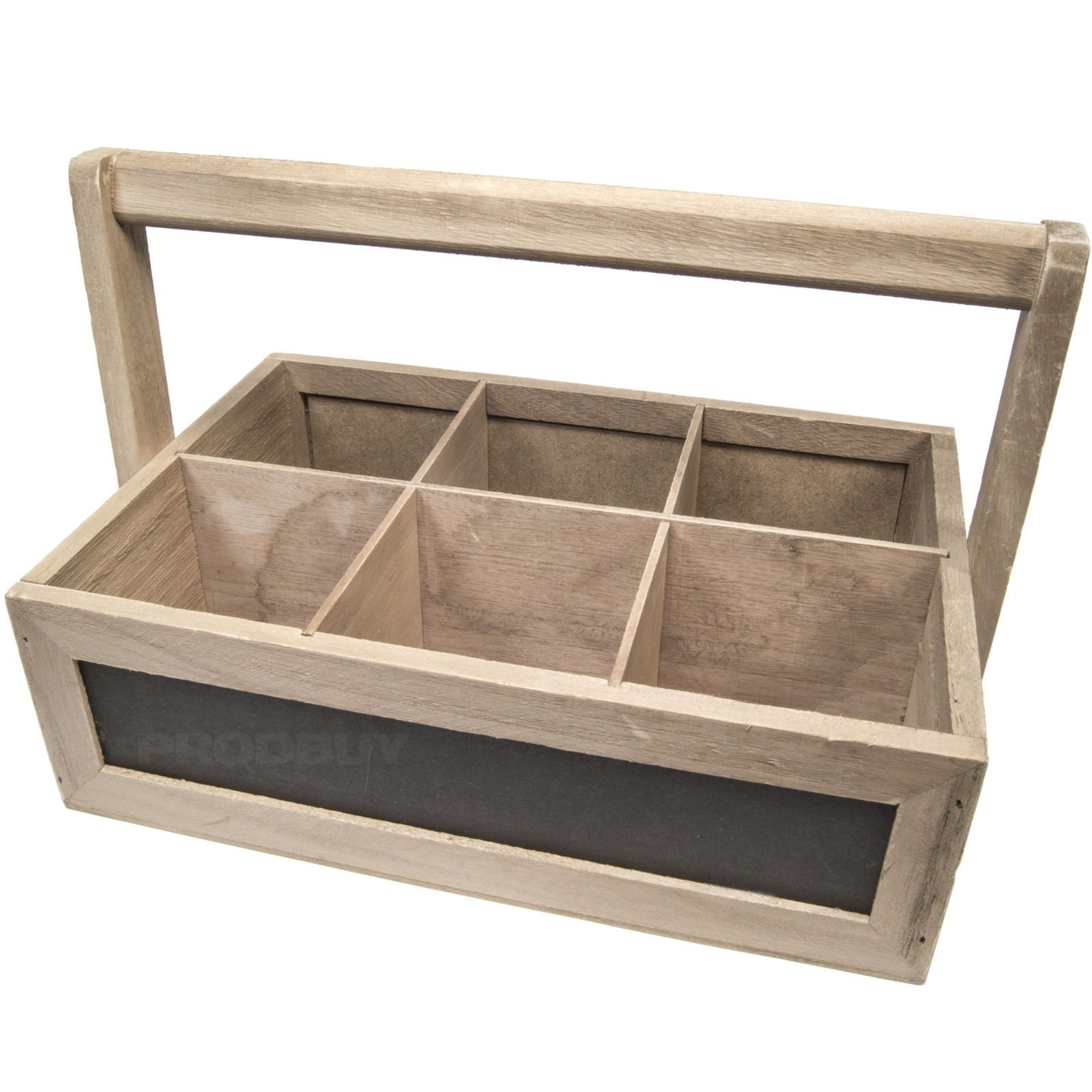 Vintage Wooden Small Box Crate rustic wall display nails storage craft garage