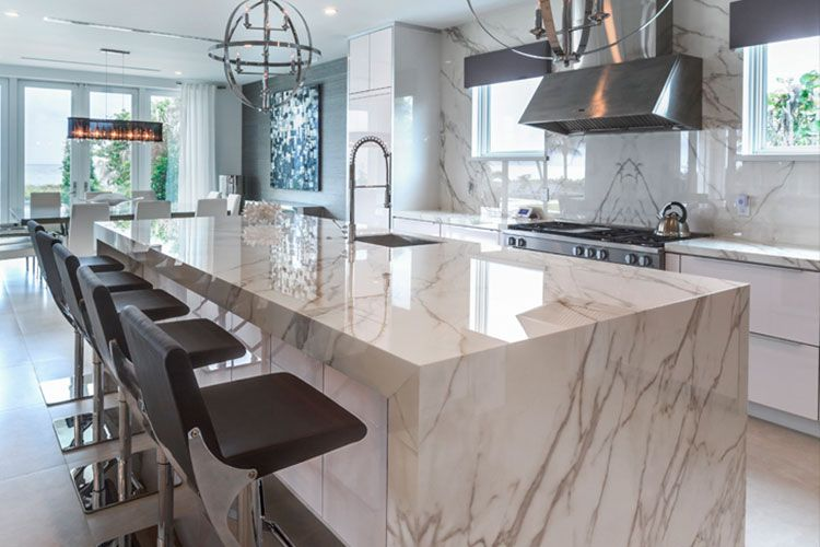 Neolith Calacatta Gold This Design Is An Interpretation Of Natural Marble With Added Durabilit Calacatta Gold Kitchen Popular Kitchen Designs Kitchen Marble