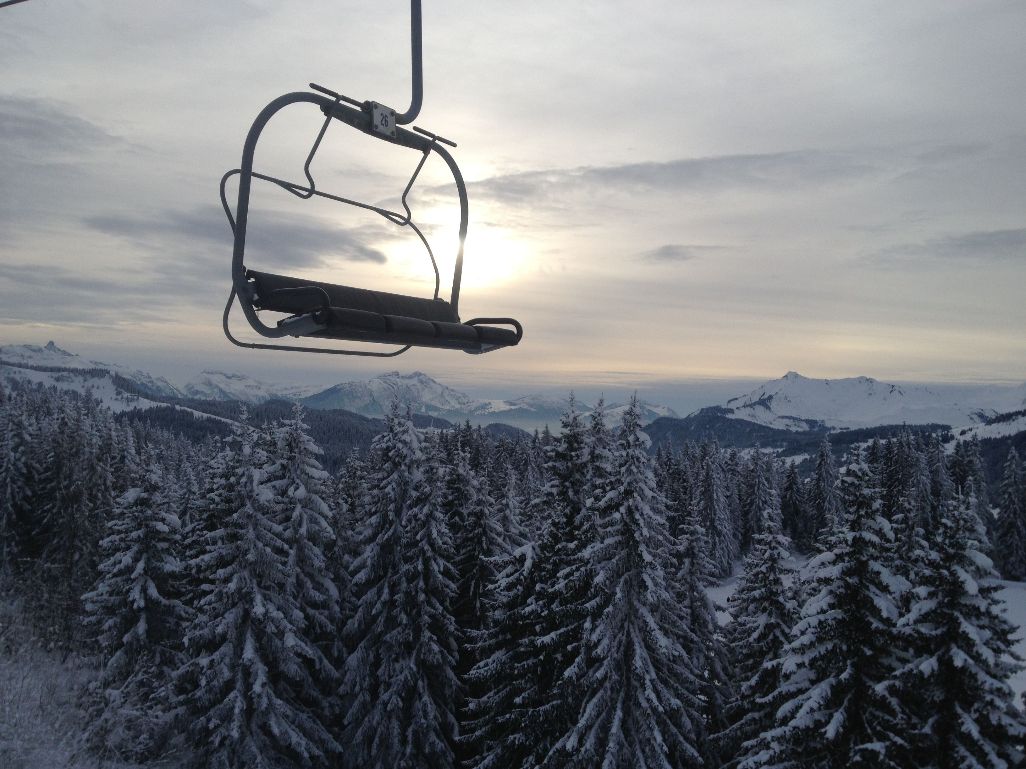 alps mountaineering adventure chair perfect beach chairs last lift skiing back to les gets beautiful snow