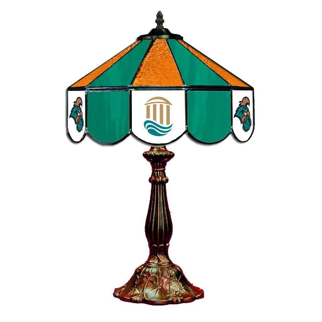 """14"""" Coastal Carolina University Desk Lamp w/ Tiffany Shade"""