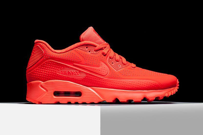nike air max 90 hyp qs independence day sport red metallic vs crimson
