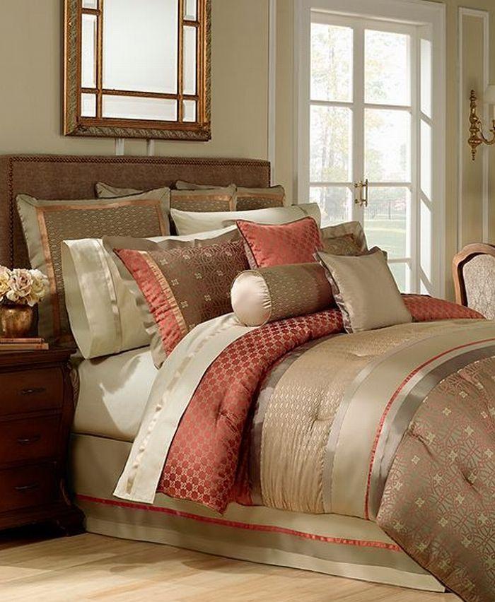 Rust Colored Comforter Waterford Bogden King Comforter Bogden