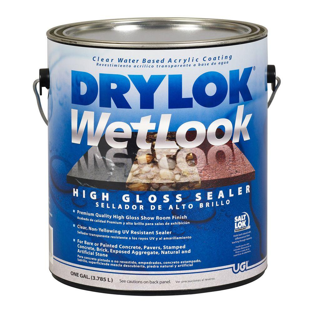 Drylok 1 Gal Wetlook Sealer 209147 The Home Depot In 2020 Sealer Concrete Sealer Painting Concrete