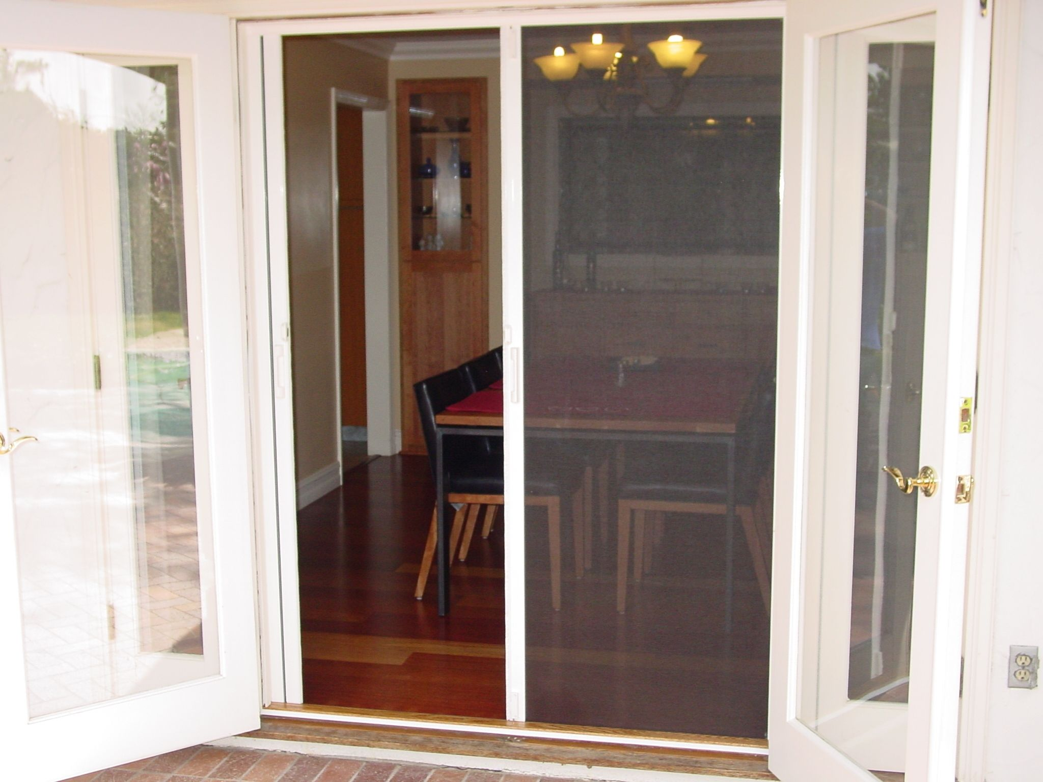 Jen weld sliding screen door for Pocket screens sliding doors