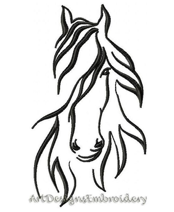 Horse Embroidery Embroidery Design Horse Design Horse Machine