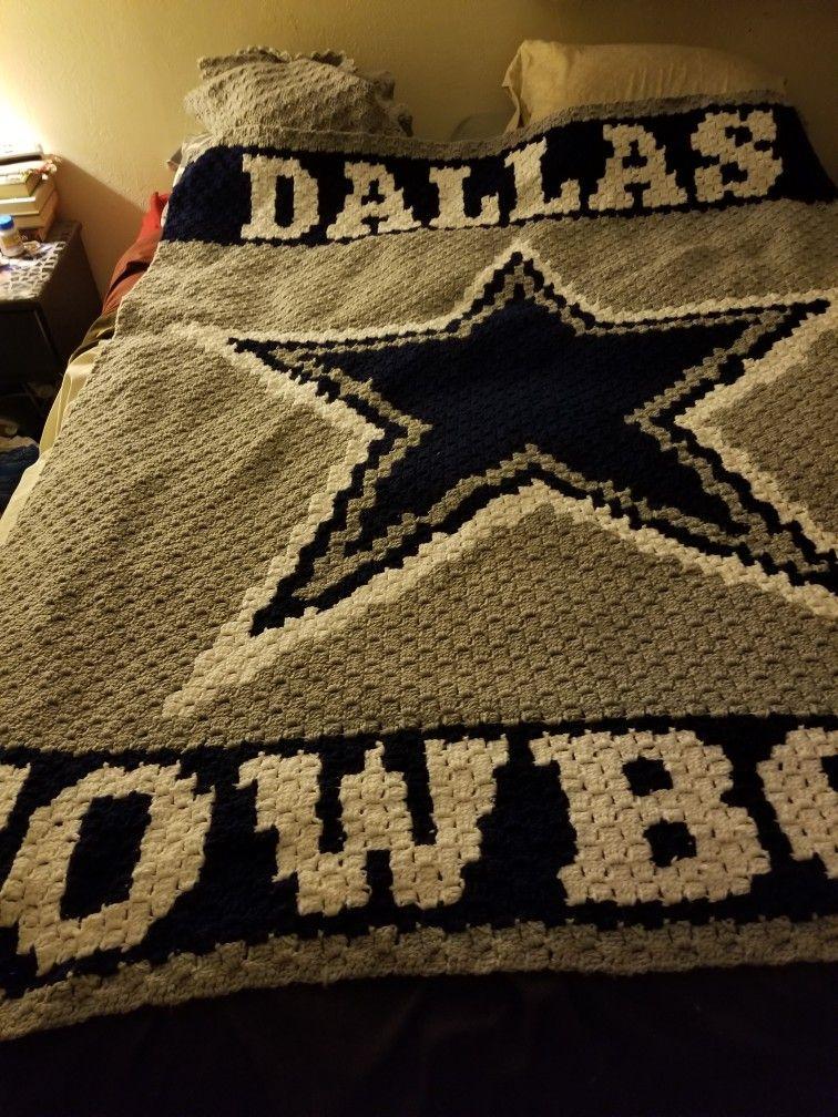 The Dallas Cowboys graphgan I made for my husband   Knit ...