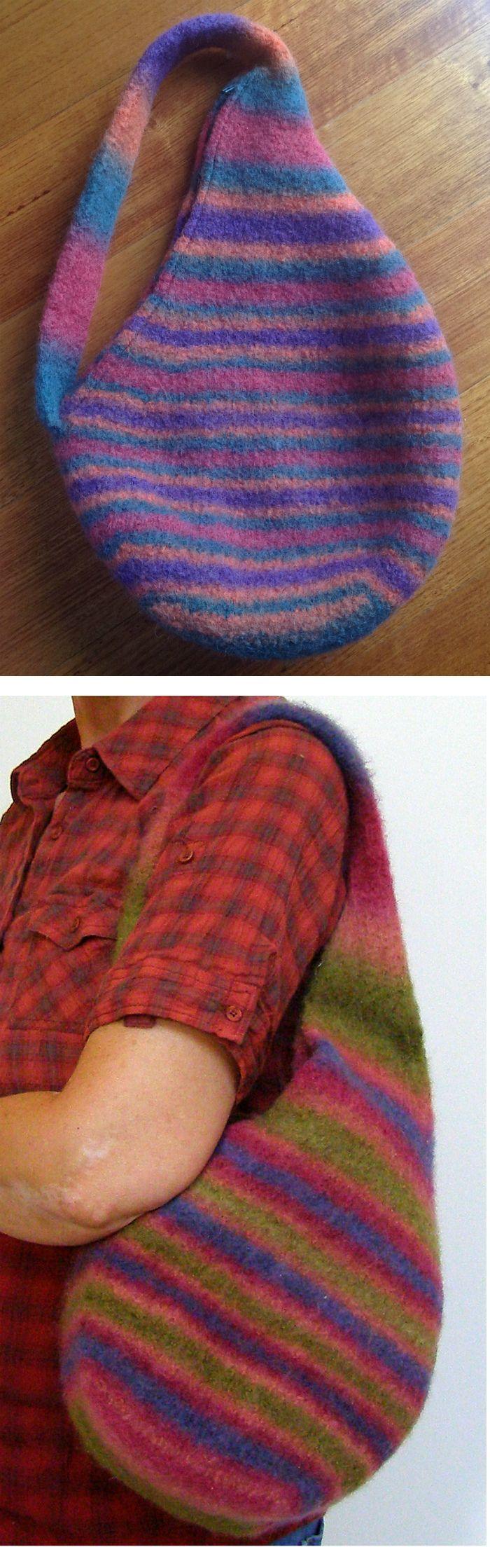 Free Knitting Pattern For Strong Back Bag Shoulder Tote Designed