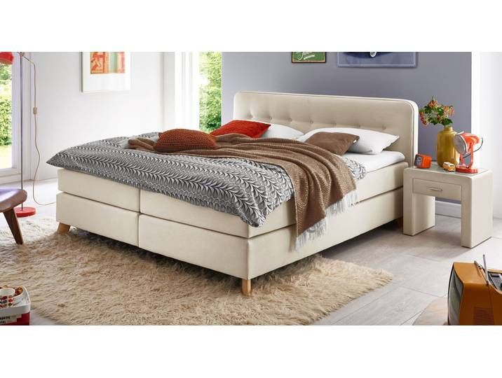Modernes Webstoff-Boxspringbett in 160x200 cm bis 120 kg - Summerford -  Modernes Webstoff-Boxspringbett in 160×200 cm bis 120 kg – Summerford – BETTEN.de  - #160x200 #bis #boxspringbett #decorationappartement #easyhomediyupgrades #homediytips #modernes #summerford #webstoff #WebstoffBoxspringbett