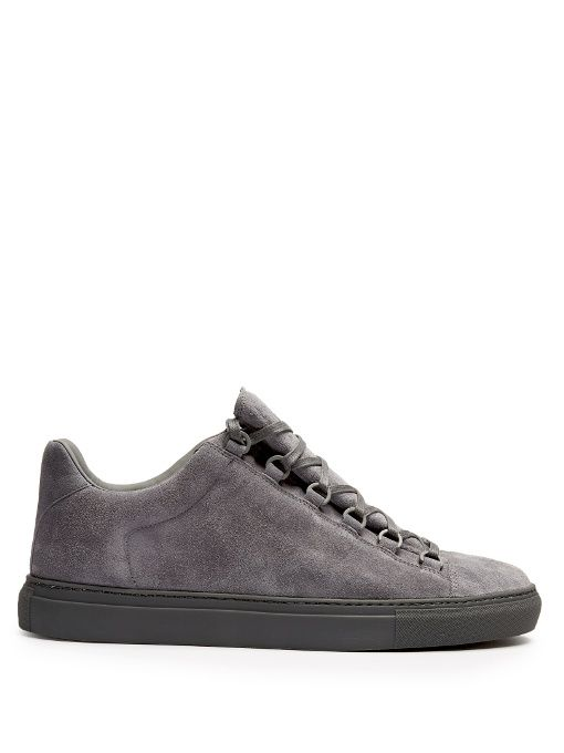 704833c059cf BALENCIAGA Arena low-top suede trainers.  balenciaga  shoes  sneakers